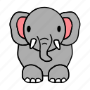 big, elephant icon