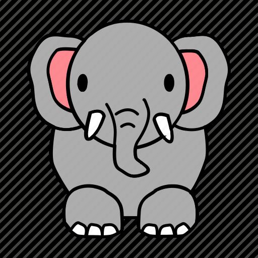 big, elephant icon