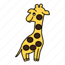 animal, giraffe, tall icon
