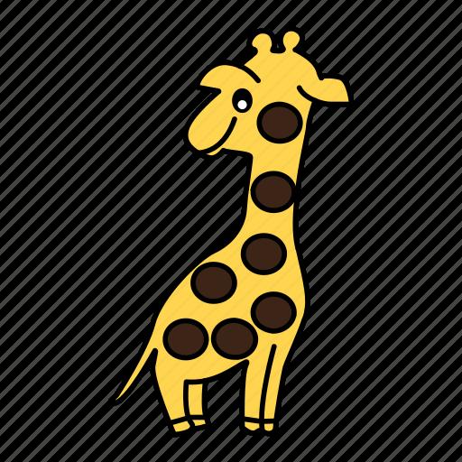 animal, giraffe, tall icon