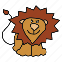 animal, avatar, king, lion icon