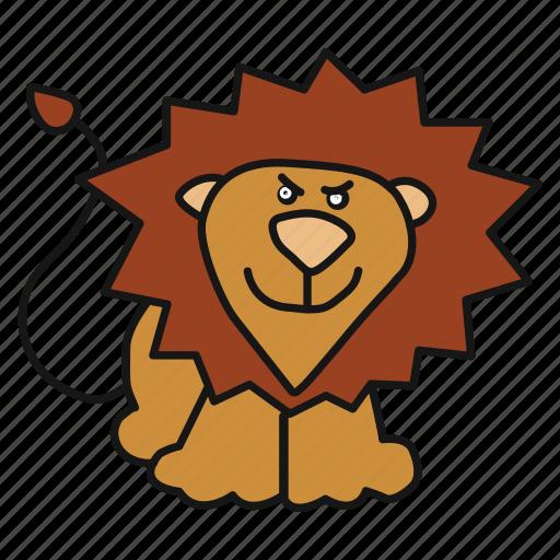 animal, avatar, king, lion icon