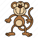 baboon, chimp, chimpanzee, monkey, orangutan icon