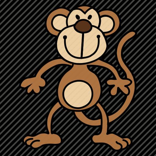baboon, chimp, chimpanzee, monkey, orangutan icon