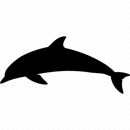 bottlenose, cetacea, dolphin, dorsal, fin, fish, mammal icon