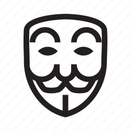 anonymous, emoticon, hacker, mask, poker face icon