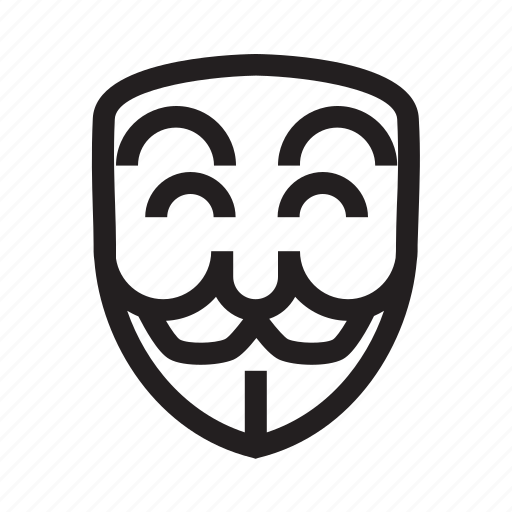 anonymous, emoticon, hacker, happy, mask, mysterious icon
