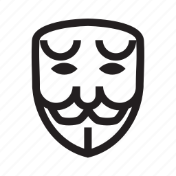 anonymous, emoticon, hacker, mask, sad icon
