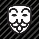 anonymous, emoticon, hacker, mask, mock icon