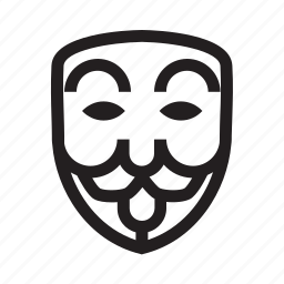 anonymous, emoticon, hacker, mask, mock icon