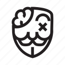 anonymous, emoticon, hacker, mask, sick icon
