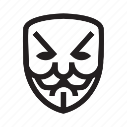 angry, anonymous, emoticon, hacker, mask icon