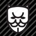 anonymous, bad, devil, emoticon, hacker icon
