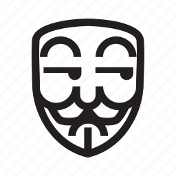 anonymous, emoticon, hacker, mask, suspicious icon
