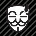 anonymous, emoticon, hacker, lazy, mask icon