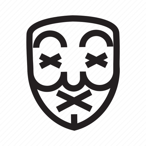 anonymous, die, emoticon, hacker, mask icon