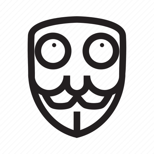 anonymous, confuse, emoticon, hacker, mask, thinking icon