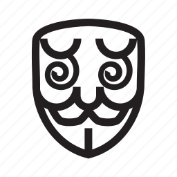 anonymous, confuse, emoticon, hacker, mask icon