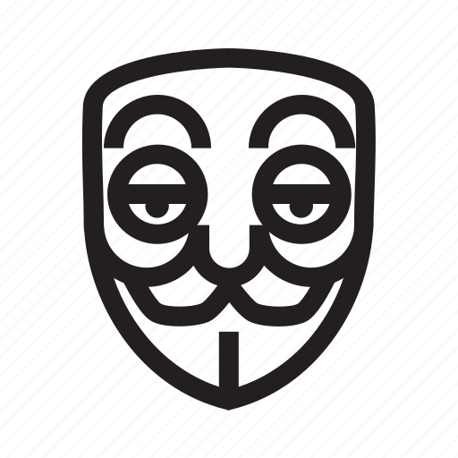 anonymous, emoticon, hacker, lazy, mask icon
