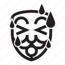 anonymous, emoticon, hacker, hot, mask, summer icon