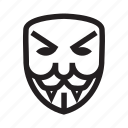 anonymous, dracula, emoticon, evil, hacker, mask icon