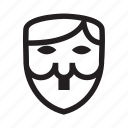anonymous, emoticon, hitler, mask, revolution icon