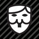 anonymous, emoticon, hitler, mask, revolution icon
