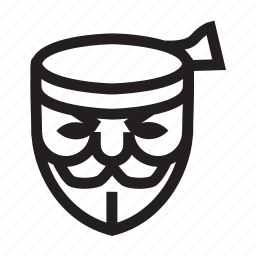 anonymous, emoticon, hacker, mask, on fire, spirit icon