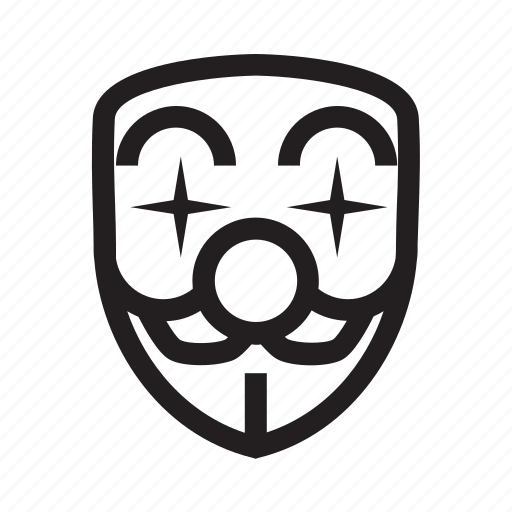 anonymous, clown, emoticon, fool, hacker, mask icon