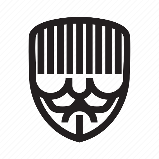 anonymous, confuse, emoticon, hacker, mask, stuck icon