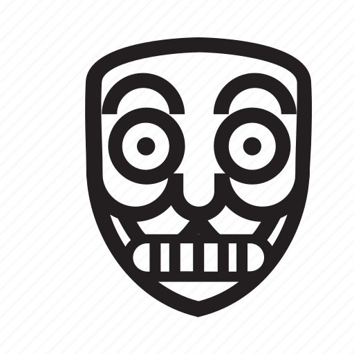 anonymous, emoticon, mask, scary, teeth icon