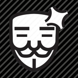 annoyed, anonymous, emoticon, hacker, mask icon