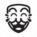 anonymous, emoticon, laugh, lol, mask icon
