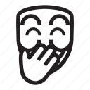anonymous, emoticon, hacker, mask, shame, upss icon