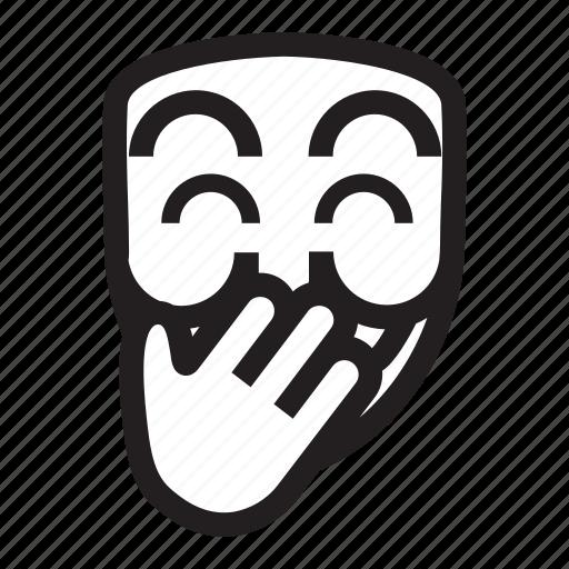 anonymous, emoticon, hacker, mask, shame, upss icon
