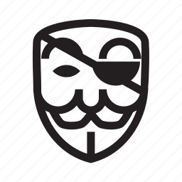 anonymous, emoticon, hacker, mask, pirate icon