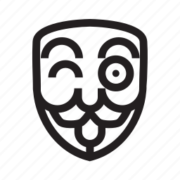 anonymous, emoticon, hacker, mask, tease icon