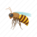 animal, bee, cartoon, fly, honey, insect, wing icon