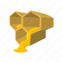 bee, cartoon, hexagon, hive, honey, honeycomb, nature icon