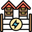 electric, fence, boundary, safety, protection