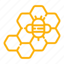 apiary, bee, beehive, hive, honey, honeycomb, wax icon