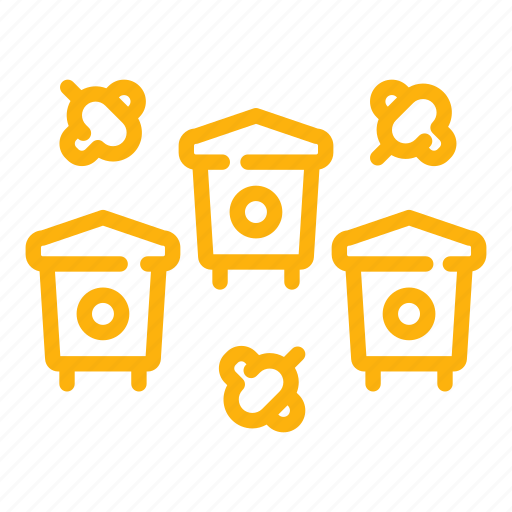 apiary, bee, beehive, hive, honey, honeycomb, insect icon