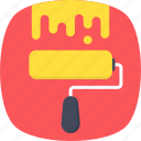 paint brush, paint roller, painting, roller, roller brush icon