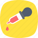 dropper, eyedropper, laboratory equipment, medication, pipette icon