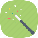 fairy wand, magic stick, magic wand, magician, wizard wand icon