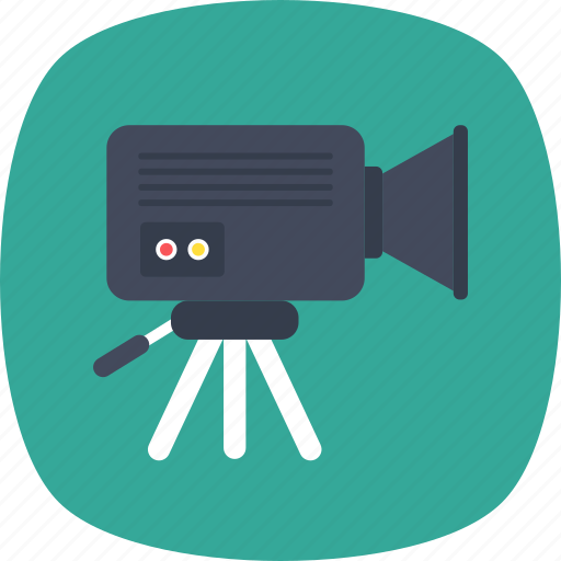 filmmaking, movie camera, multimedia, recording, video camera icon