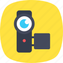 camcorder, camera, handycam, video camera, video recording icon