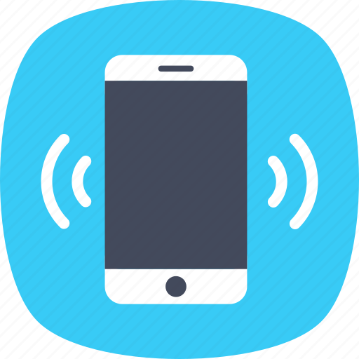 mobile ringing, mobile signals, mobile vibrating, mobile waves, smartphone icon