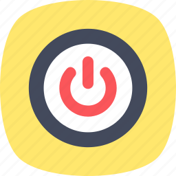 off, on, power button, start button, web interface icon