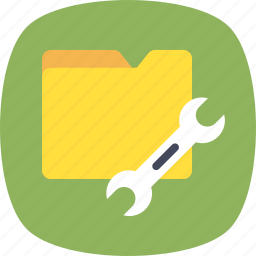 folder options, folder preferences, folder setting, spanner. archives icon